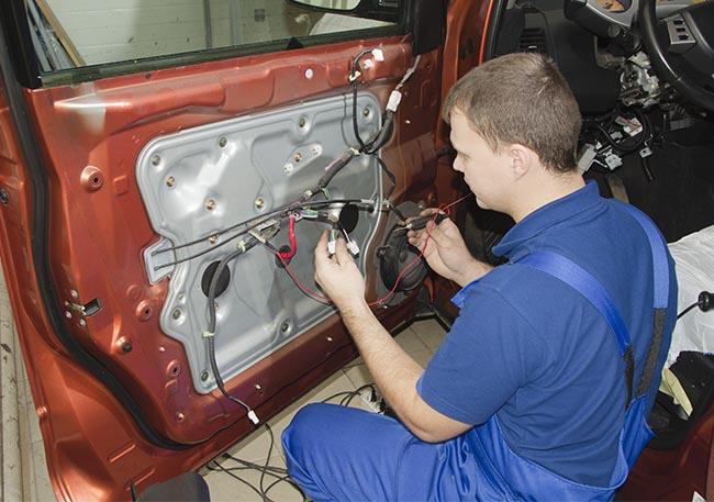 ремонт центрального замка автомобиля в Минске